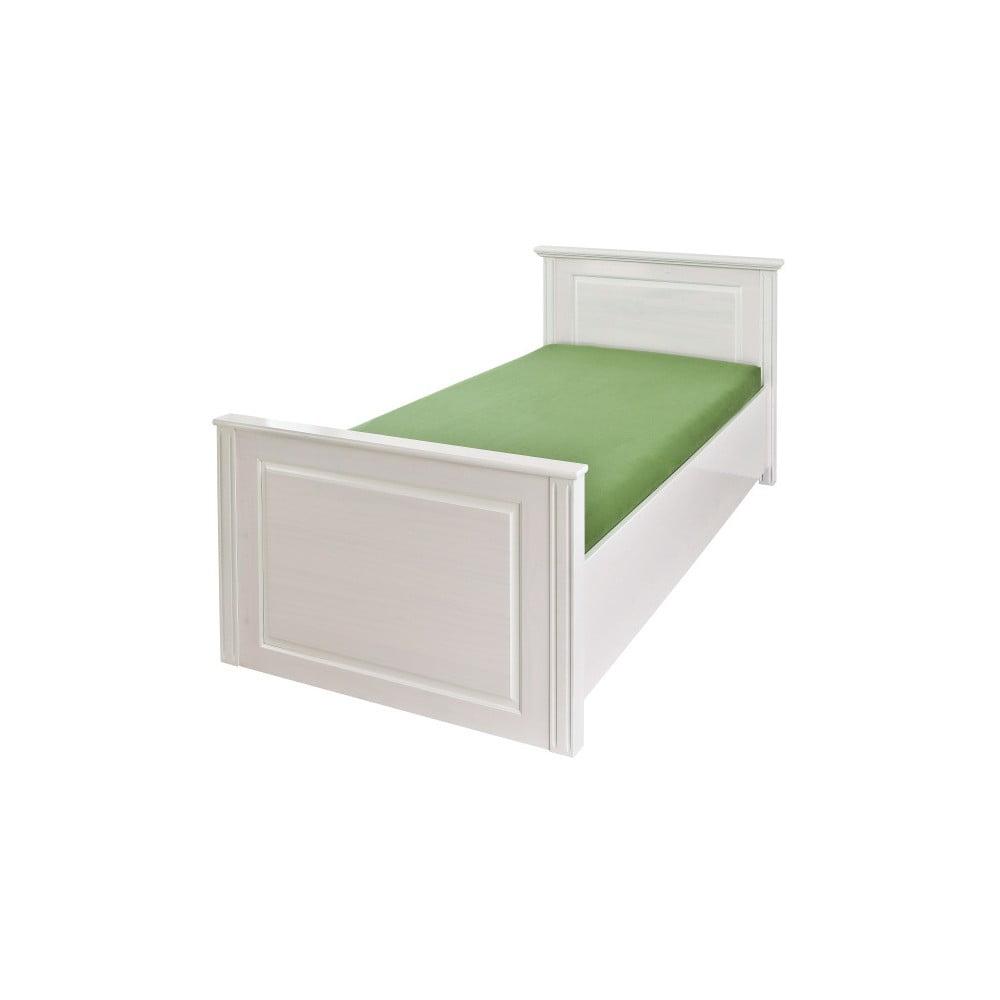 Białe Drewniane łóżko Jednoosobowe 13casa Asia 90x200 Cm Bonami
