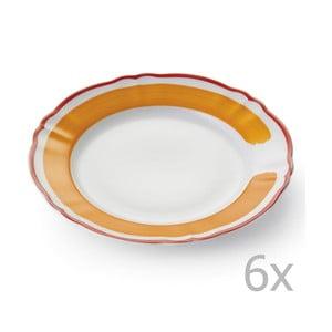 Zestaw 6 talerzy Giotto Orange/Red