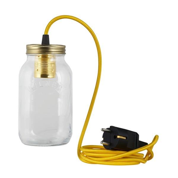 Lampa JamJar Lights, żółty okrągły kabel