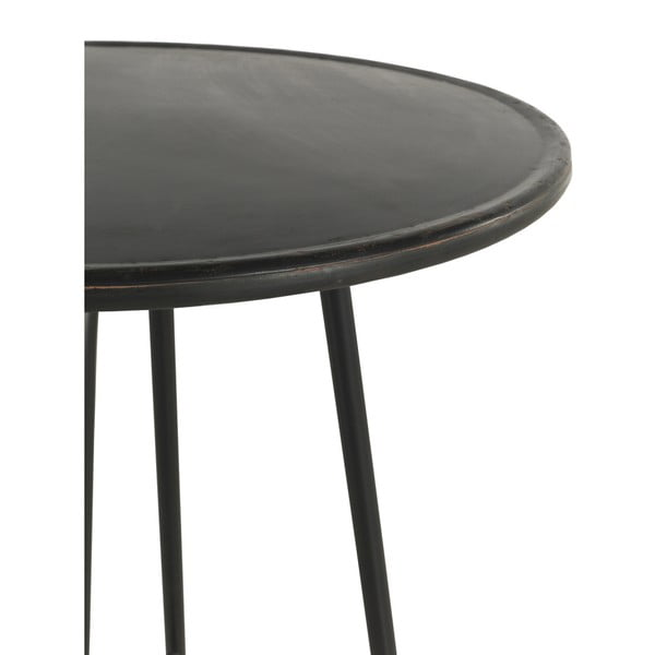 Czarny metalowy hoker Geese Industrial Style, wys. 75 cm