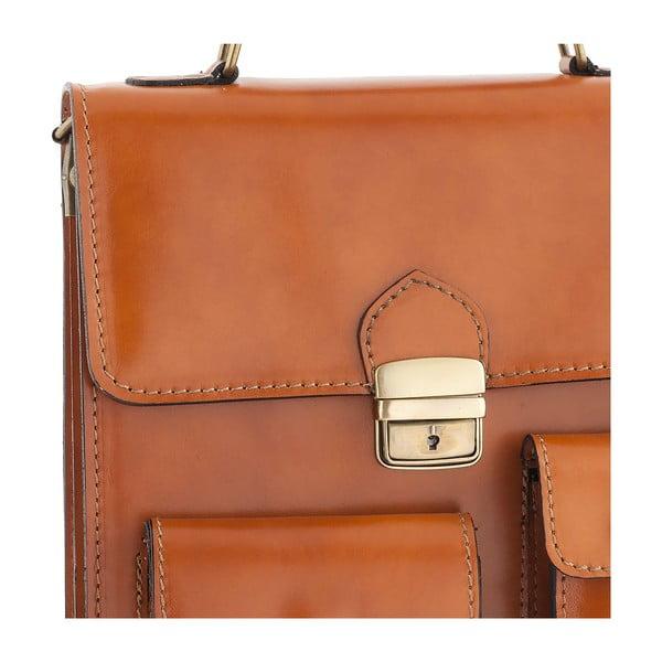 Skórzana torebka Ore Diece Urbino, miodowa