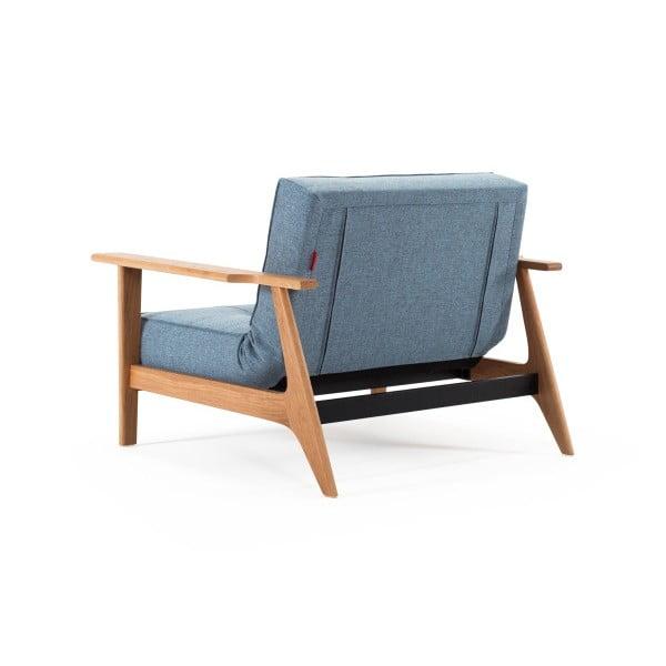 Jasnoniebieski rozkładany fotel Innovation Splitback Frej Mixed Dance Light Blue