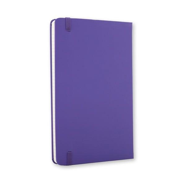 Notatnik Moleskine Hard 21x13 cm, fioletowy + strony w linię