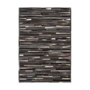 Dywan skórzany Eclipse Grey Brown, 120x170 cm