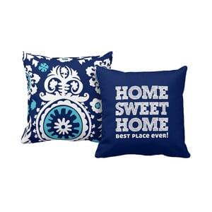 Zestaw 2 poduszek Home Blue, 43x43 cm
