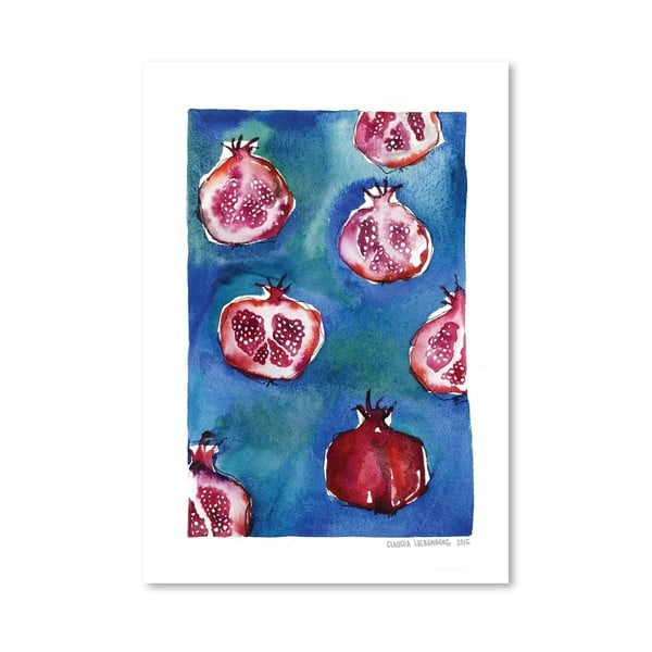Plakat Pattern Pomegranate, 30x42 cm