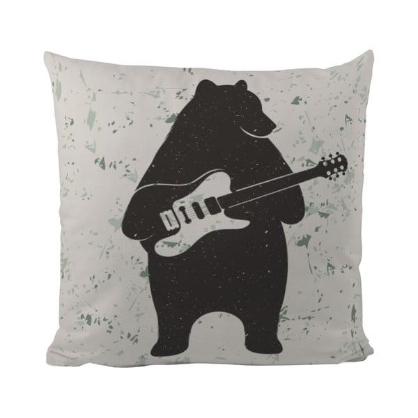 Poduszka Butter Kings Bear and Guitar, 50x50 cm