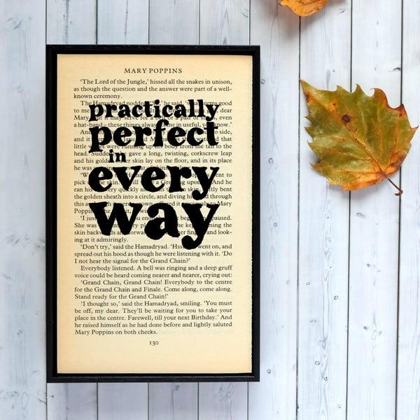 Plakat   w drewnianej ramie Mary Poppins Practically Perfect