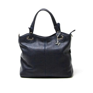 Skórzana torebka Luisa Vannini 1103 Blu