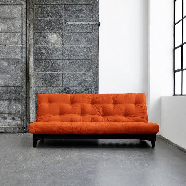 Sofa rozkładana Karup Fresh Wenge/Orange