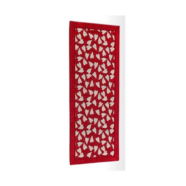 Wytrzymały dywan kuchenny Webtapetti Corazon Rosso, 55x240 cm