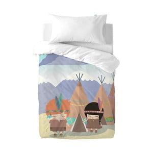 Pościel dziecięca z czystej bawełny Happynois Indian Night, 100x120 cm