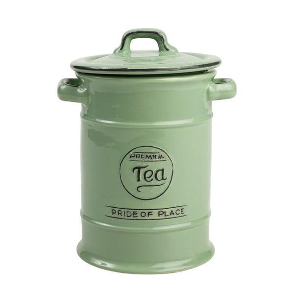 Zielony pojemnik ceramiczny na herbatę T&G Woodware Pride Of Place