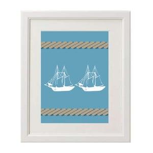 Obraz Two Boats A4
