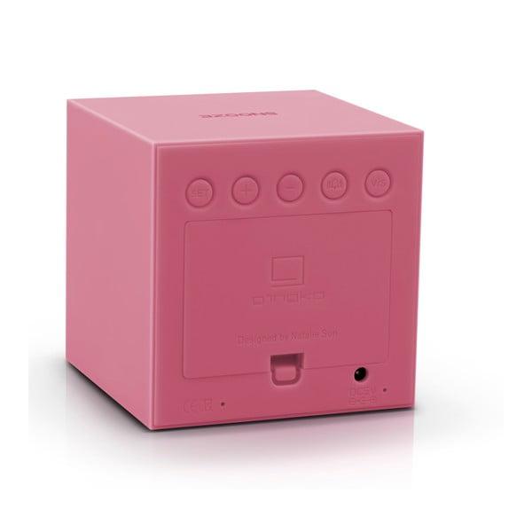 Różowy budzik LED Gingko Gravitry Cube