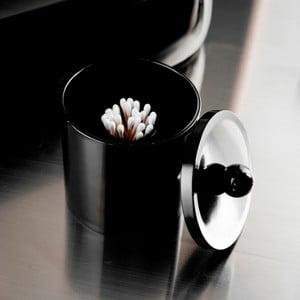 Okrągły pojemnik na płatki kosmetyczne Black Box