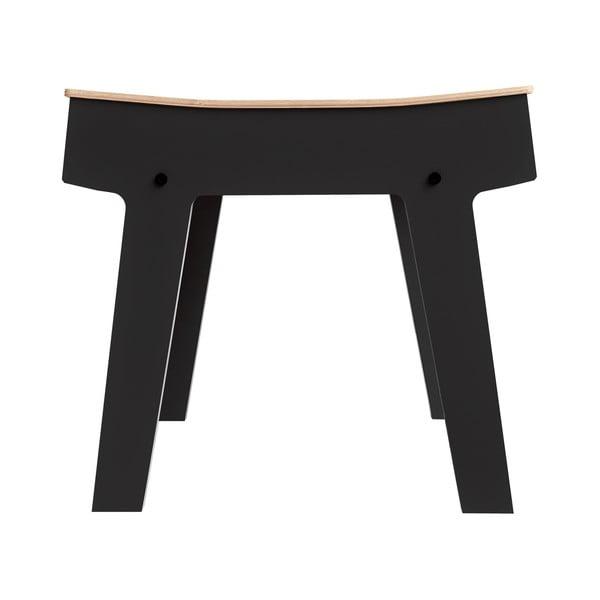 Czarny stolik/stołek ze schowkiem rform Pi