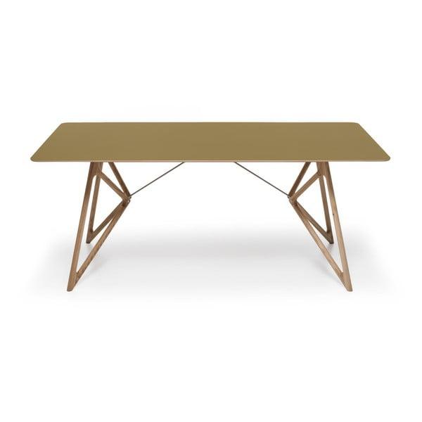 Stół dębowy do jadalni Tink Linoleum Gazzda, 200cm, oliwkowy