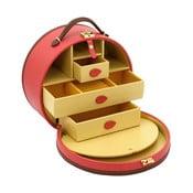 Czerwona szkatułka/kuferek na kosmetyki Friedrich Lederwaren Ascot