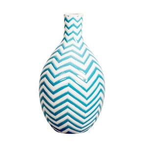 Niebieski wazon ręcznie malowany Kaila