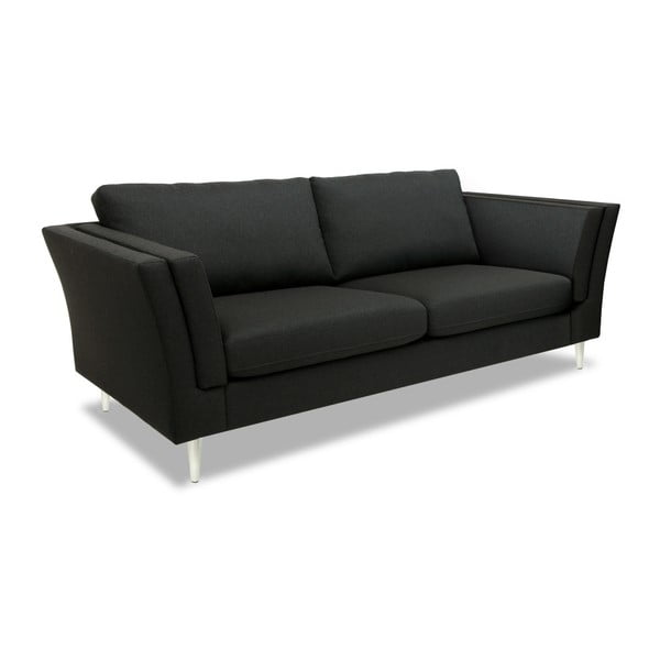 Antracytowa sofa dwuosobowa Vivonita Connor