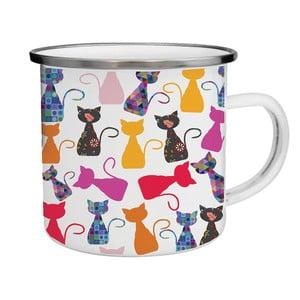 Kubek emaliowany w kolorowe koty TinMan, 200 ml