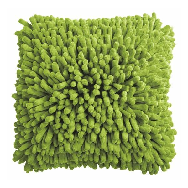 Zielona poduszka ZicZac Spiky, 45x45 cm