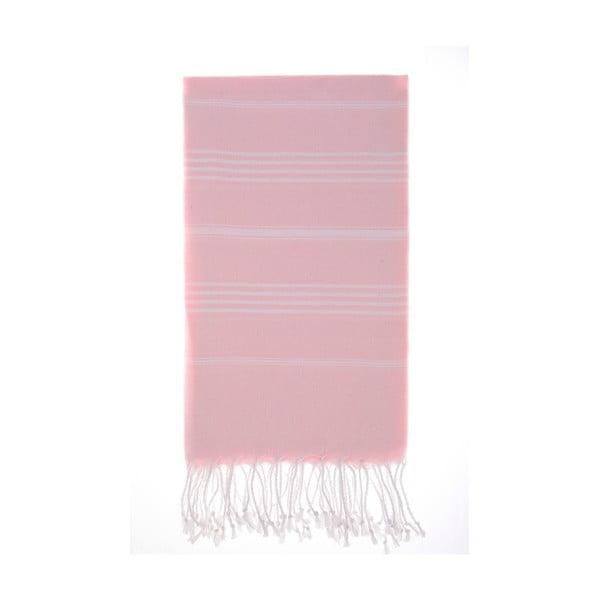 Ręcznik Hamam Cesme Pink, 100x180 cm