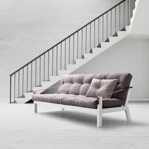 Sofa rozkładana Karup Poetry White/Gris/Light Bordeaux