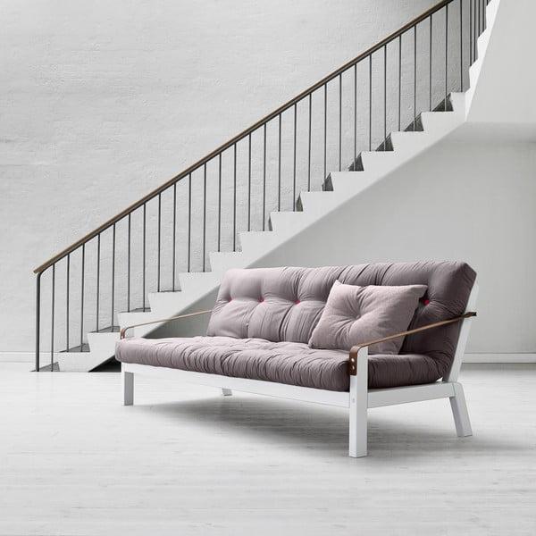 Sofa rozkładana Karup Poetry White/Gris/Light Bordeaux