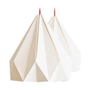 Lampa wisząca Origamica Spring Light For Two Vanilla Beige