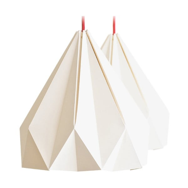 Lampa wisząca Origamica Spring Light For Two Vanilla Beige