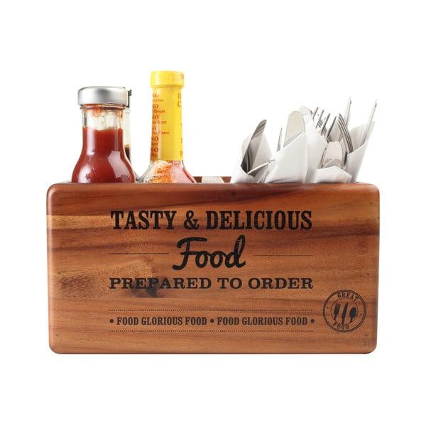 Pojemnik na słoiczki z przyprawami z drewna akacjowego z tabliczkąT&G  Woodware Glorious