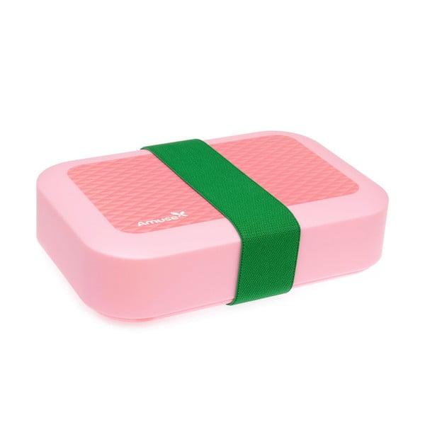 Pudełko śniadaniowe Amuse, różowe