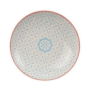Talerz porcelanowy Animal Colored Red/Blue, 21.5 cm