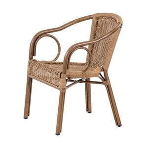 Ciemnobrązowe ogrodowe krzesło sztaplowane Massive Home Brava