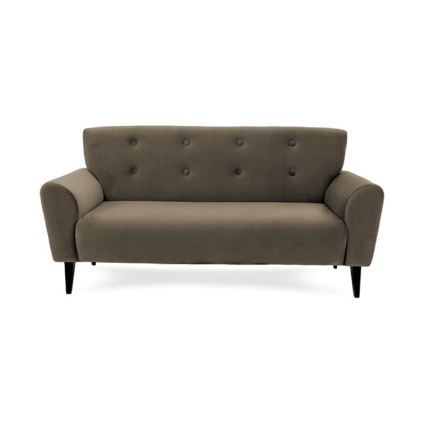 Szaro-brązowa sofa trzyosobowa Vivonita Klara