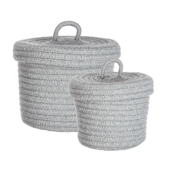 Zestaw 2 koszy Grey Baskets