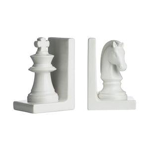 Zestaw 2 podpórek do książek White Chess