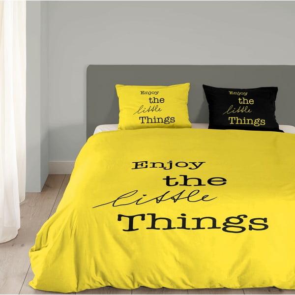 Żółta pościel Muller Textiel Enjoy, 140x200 cm