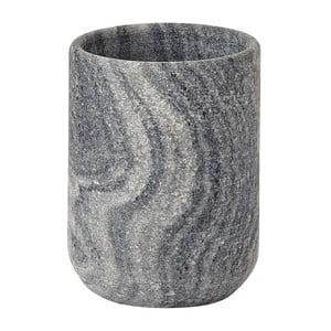 Szary marmurowy kubek na szczoteczki Aquanova Flint
