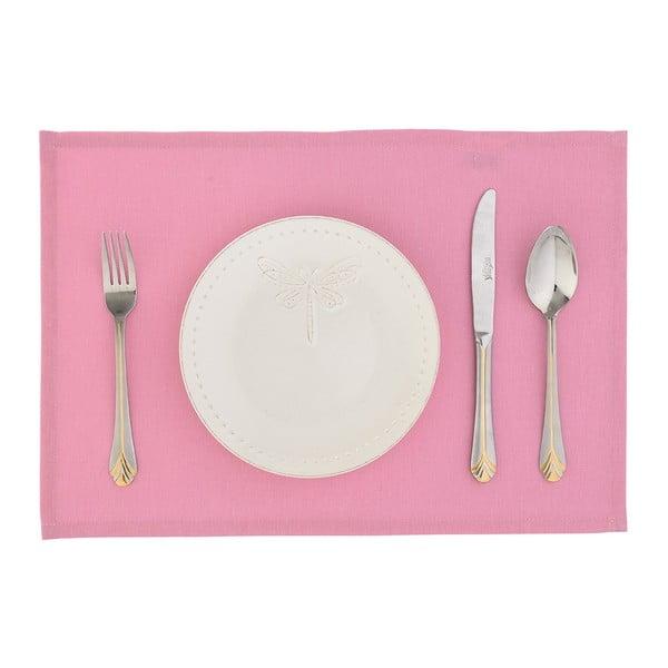 Komplet 2 mat stołowych Joy, różowe