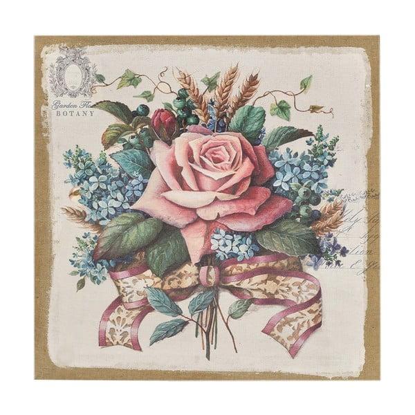 Płótno Flowers Pink, 38x38 cm