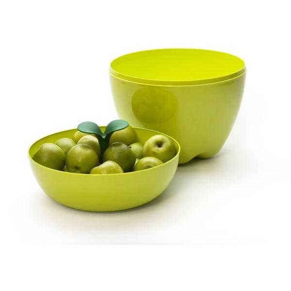 Miska z przykrywką QUALY Mini Happle Container, zielona