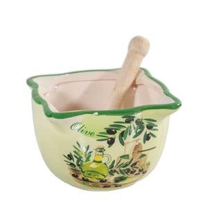 Zielony moździerz ceramiczny Olive
