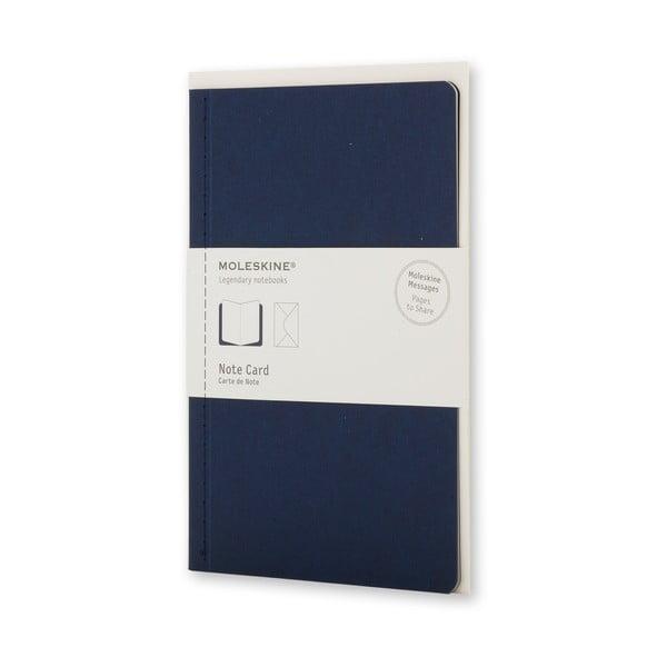 Ciemnoniebieski zestaw do pisania Moleskine, notes + okładka, mały