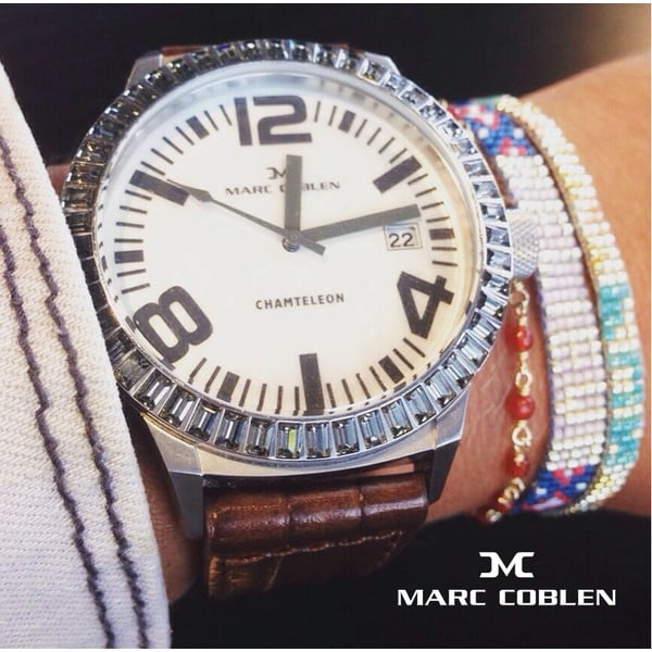 Zegarek damski Marc Coblen z dodatkowym paskiem i obręczą P68