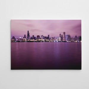 """Obraz na płótnie """"Manhattan nocą"""", 50x70 cm"""