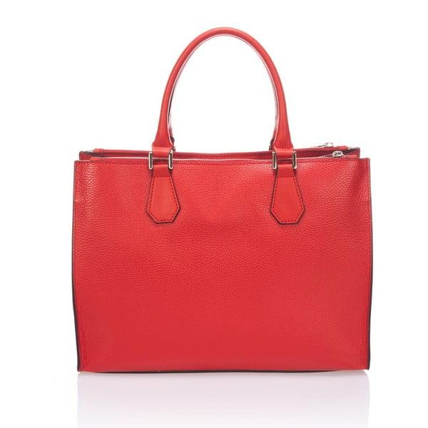 Skórzana torebka Krole Klaudie, czerwona