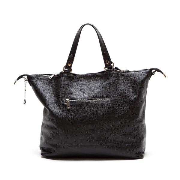 Skórzana torebka Fiora, czarna